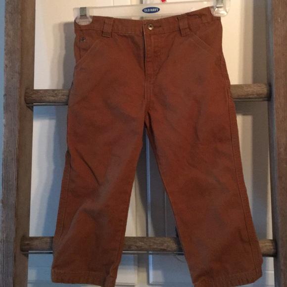 4613d7ec8582c0 Wrangler Bottoms | Brown Carpenter Canvas Pants Boys 4t | Poshmark
